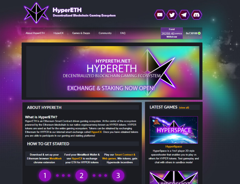 HyperETH - Smart Contract and Multiplayer Web Games
