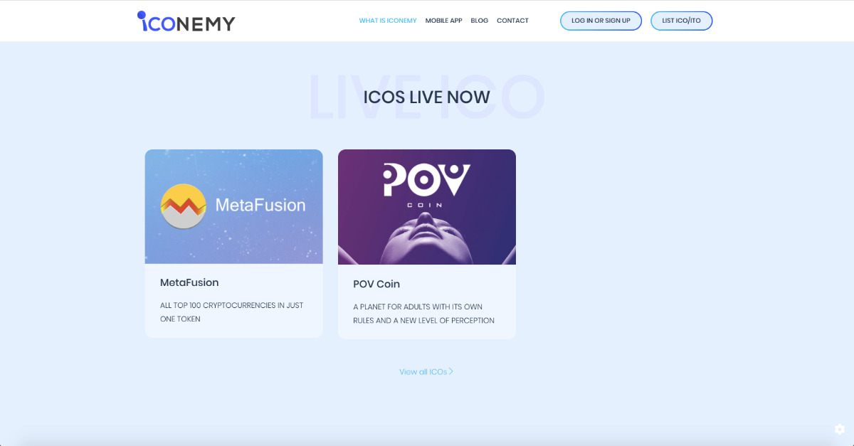 Iconemy - Iconemy makes ICOs easy