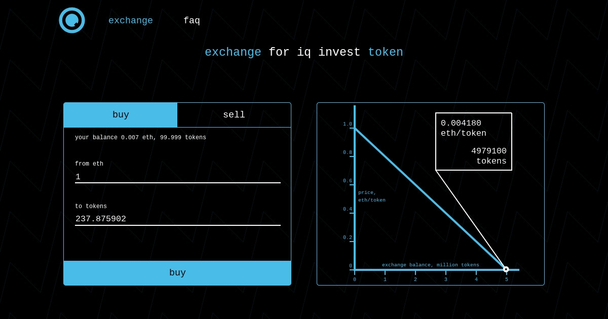iq exchange - Token exchange.