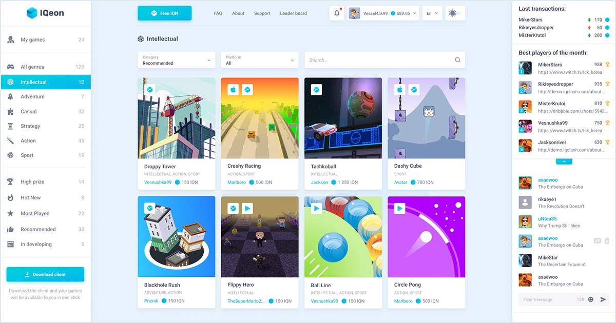IQeon - PvP gaming platform