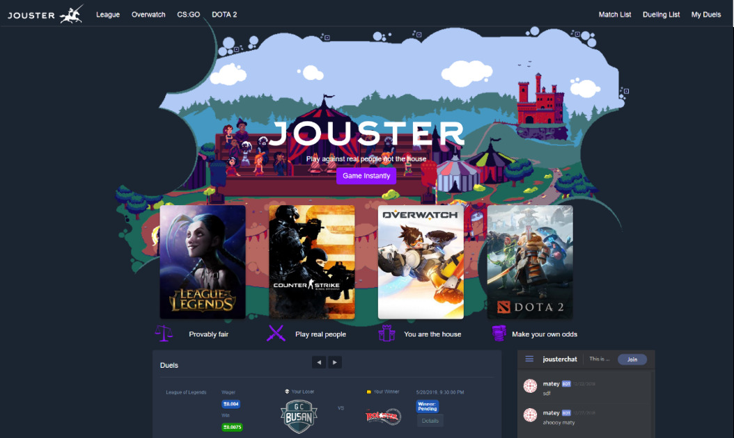 Jouster - Peer-to-peer esports gaming