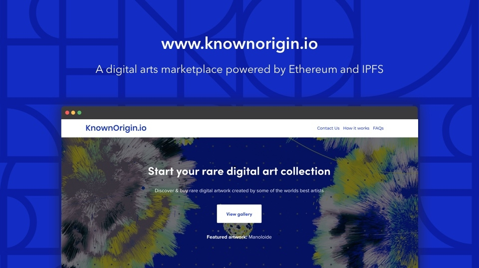 KnownOrigin Marketplace - Discover, buy and collect digital copies of artwork