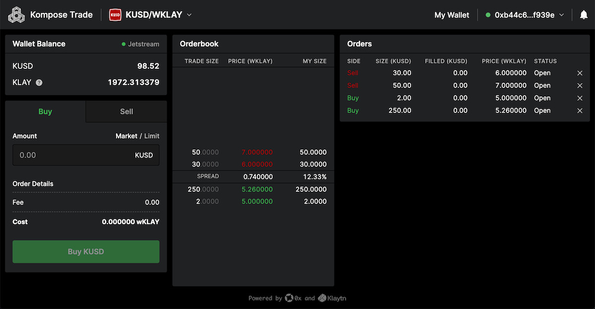 Kompose Trade - A full DEX trading experience for Klaytn