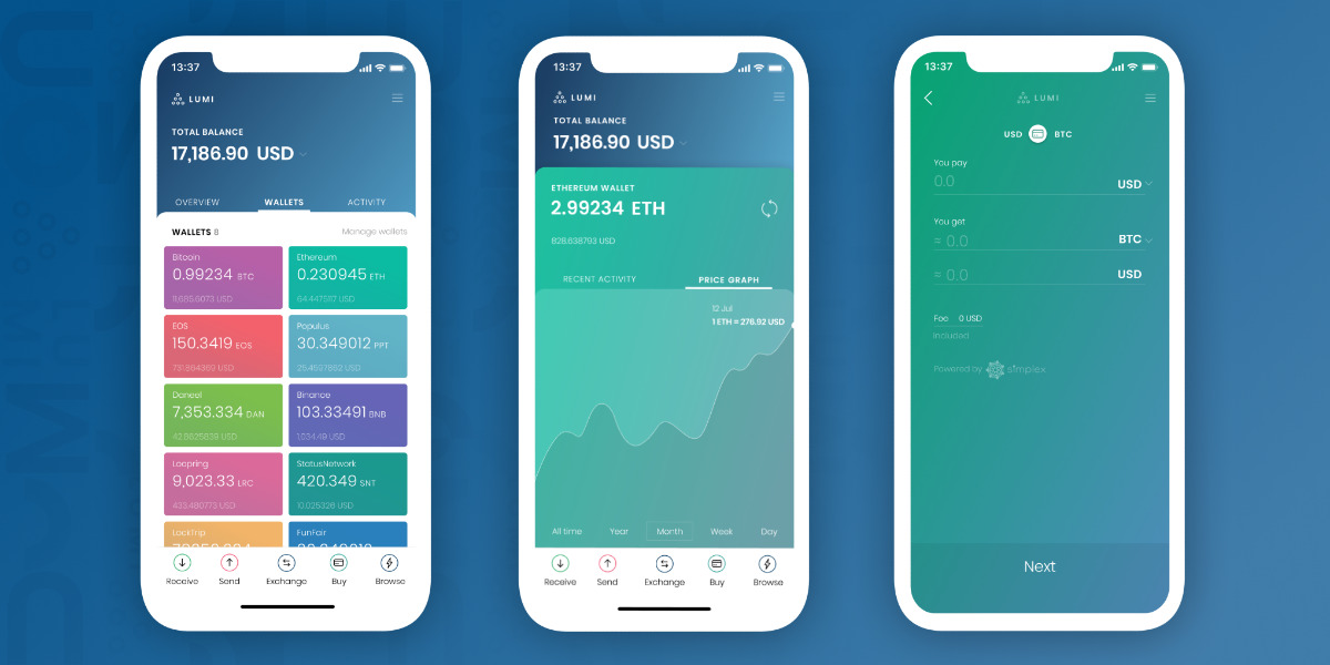 Lumi Wallet - Anonymous multi-currency wallet