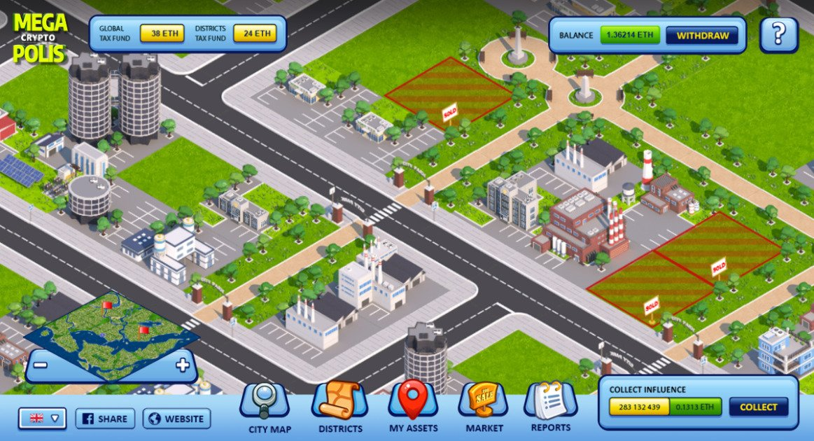 MegaCryptoPolis - City builder strategy game