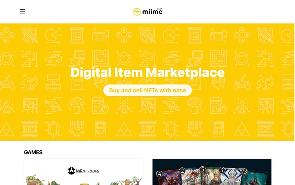 miime - erc721 marketplace for degital items.