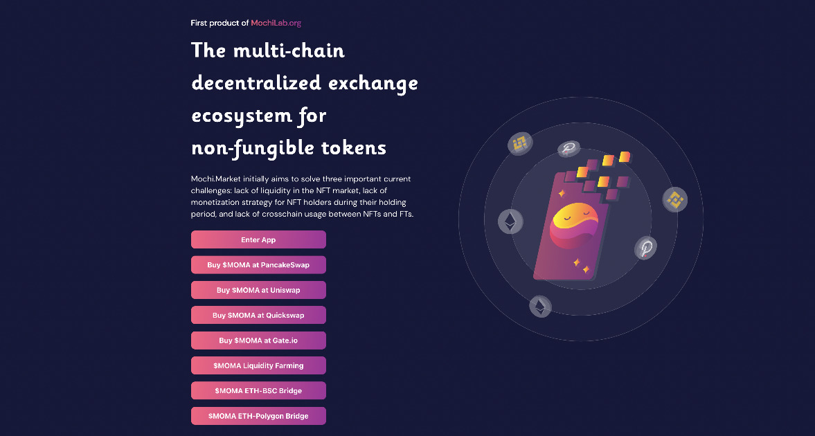 Mochi Market - The multi-chain marketplace for NFTs