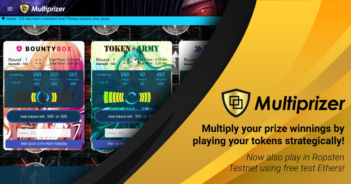 Multiprizer - Multiply your prize winnings by strategic gameplay