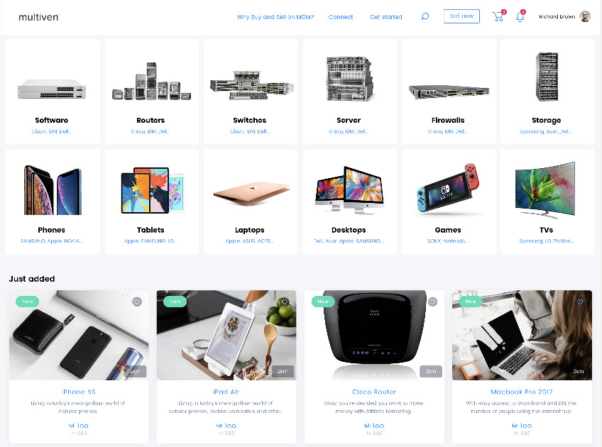 Multiven Open Marketplace - P2P Marketplace for IT Products and Services