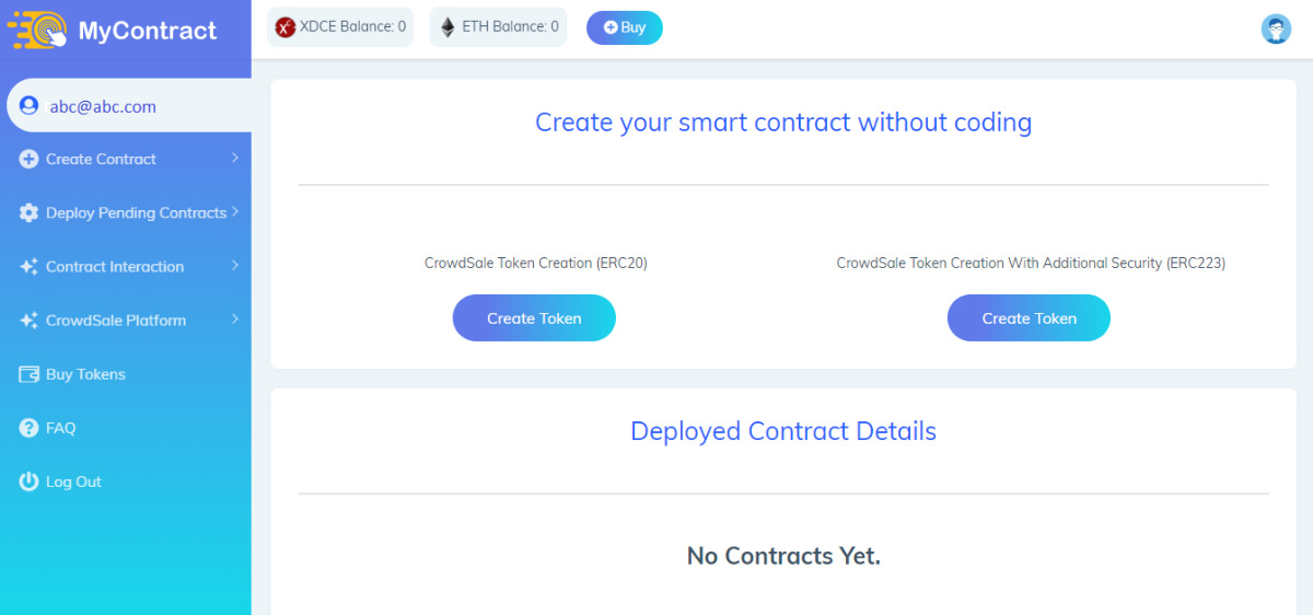 Mycontract - Create Smart Contract without Coding