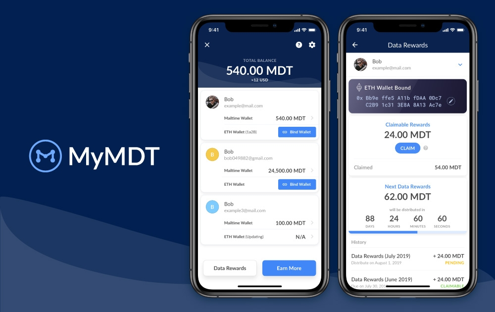 MyMDT Data Wallet - Get rewarded for sharing anonymous data.