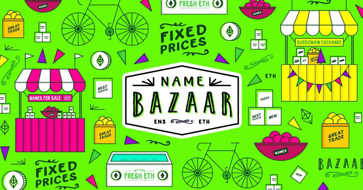 Name Bazaar - A peer-to-peer marketplace for the exchange of names registered via the ENS