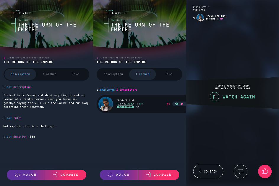 Nergame - Video live streaming competition platform