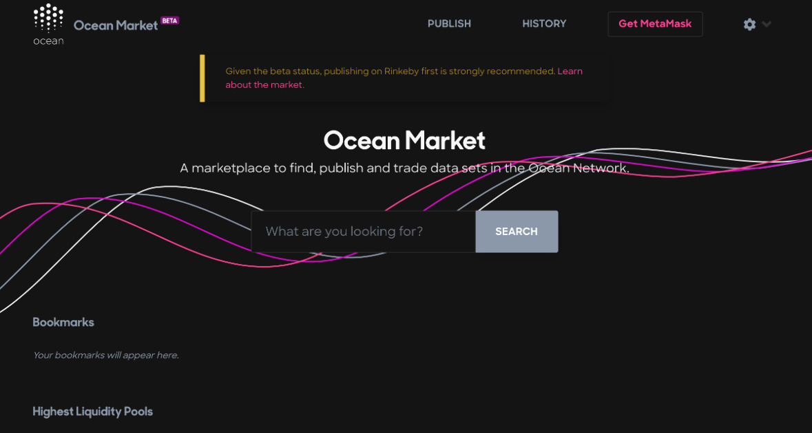 Ocean Market - A marketplace to find, publish and trade data sets