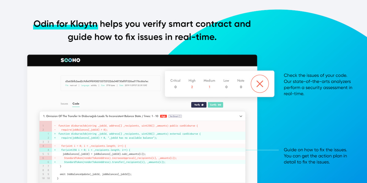 Odin for Klaytn - Verify and certify your smart contract
