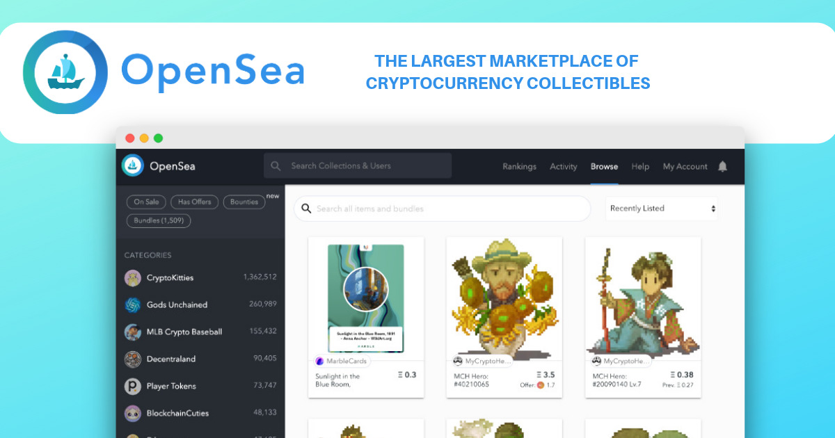OpenSea - Peer-to-peer marketplace for scarce digital goods
