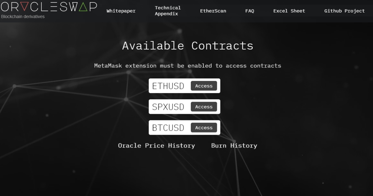 OracleSwap - Derivatives contract suite