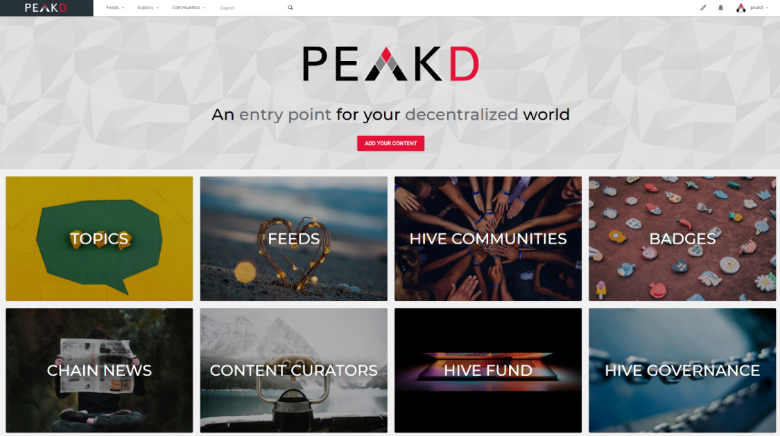 PeakD - An entry point for social experience on chain