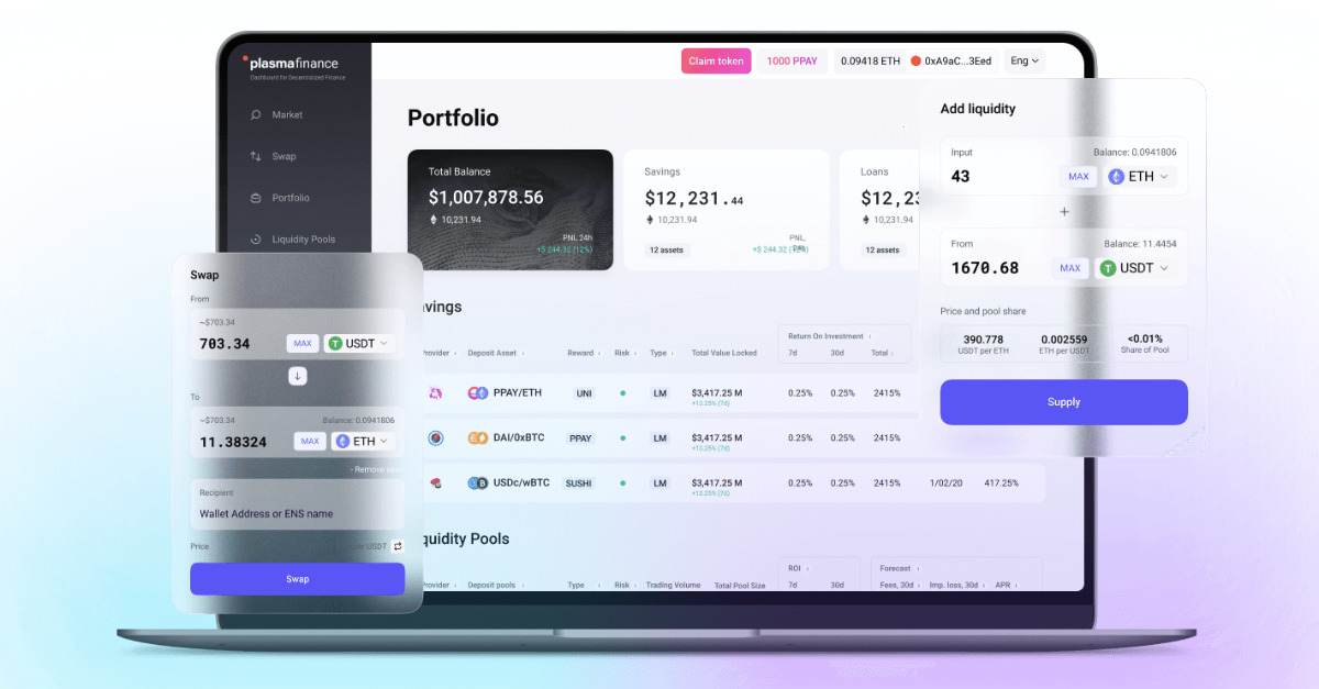 Plasma Finance - The easiest way to invest in DeFi
