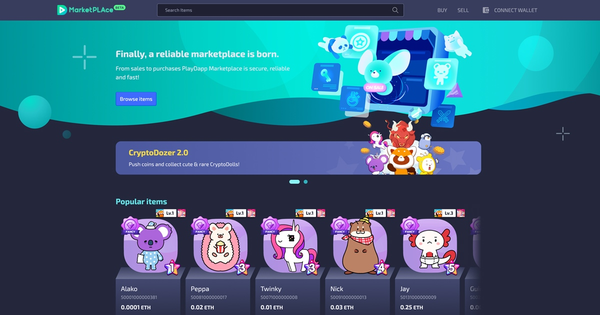 PlayDapp MarketPLAce - Buy, Sell, & Auction your NTFs