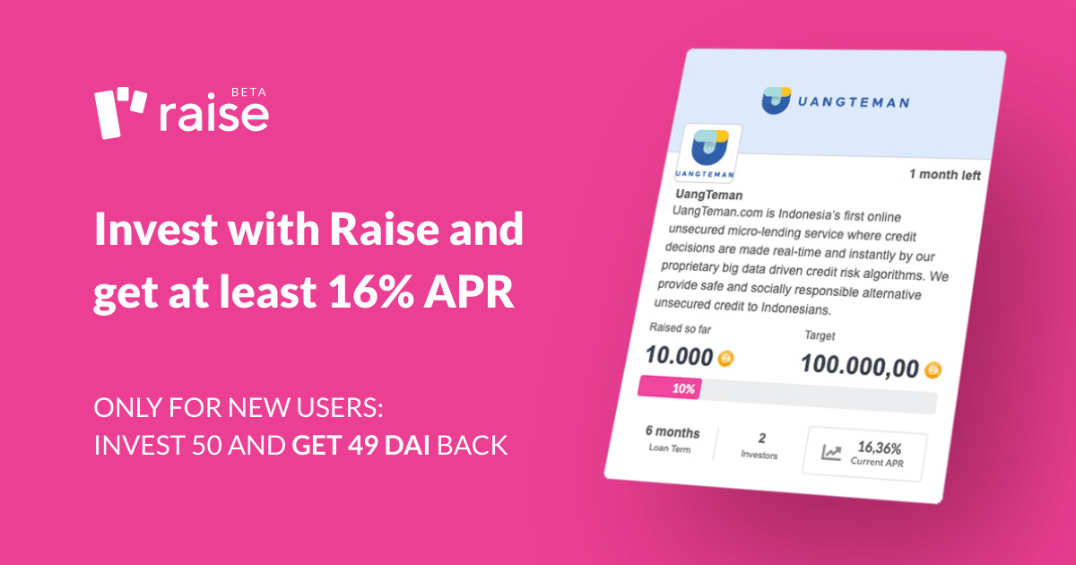 Raise - Invest with Raise and get 15% APR