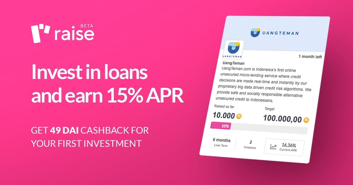 Raise - Invest in loans and get 15% APR