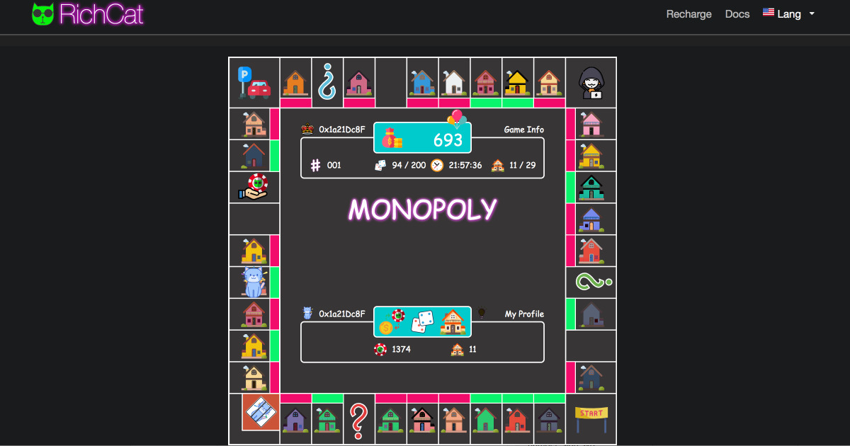 RichCat - Decentralised monopoly game