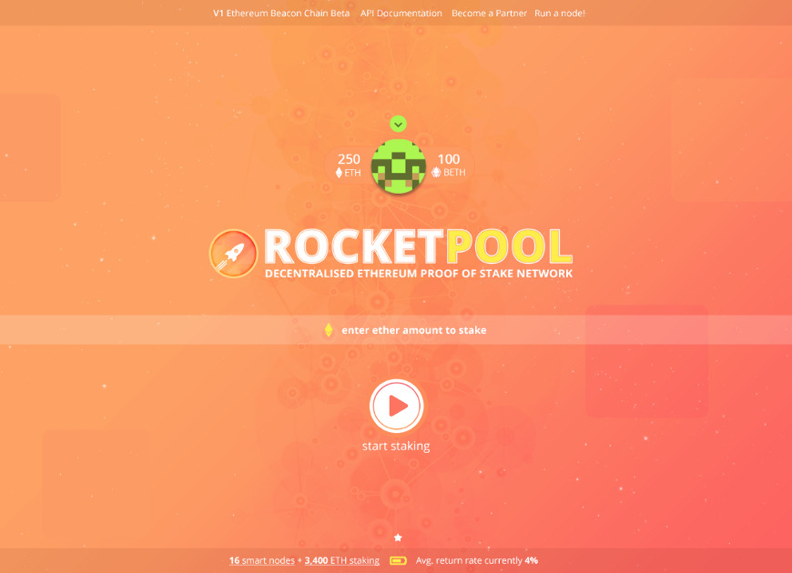 Rocket Pool - Proof of stake (POS) pool