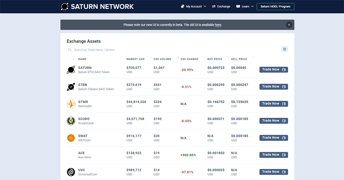 Saturn Network - Peer-to-peer one transaction uncensorable exchange