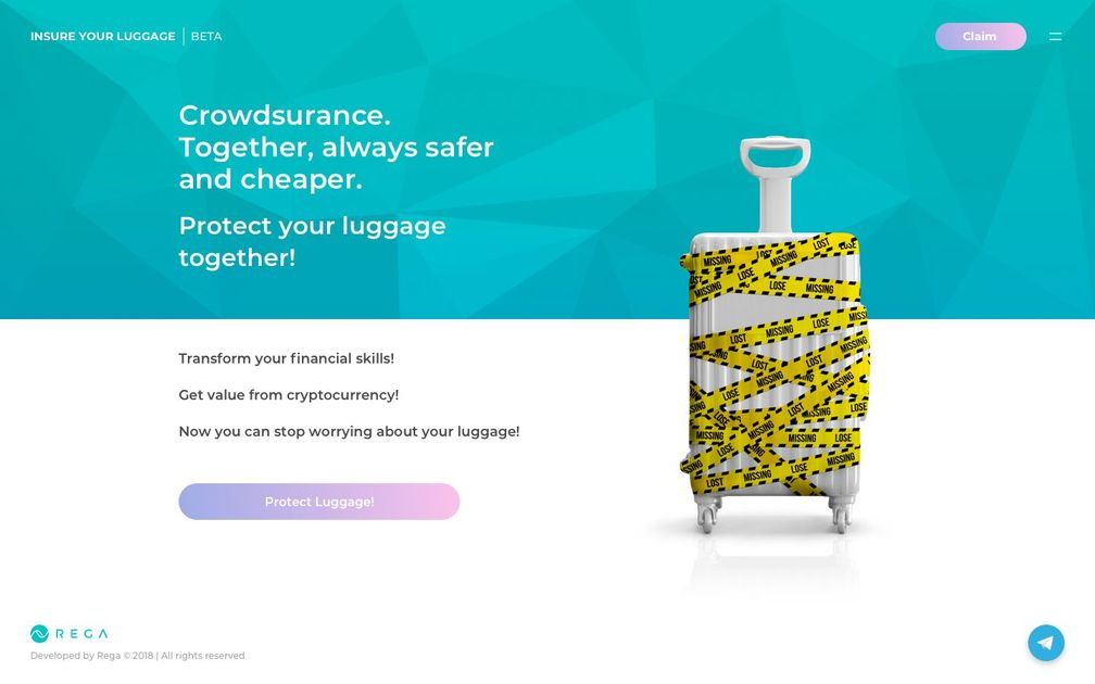 savemyluggage - Luggage crowdsurance NFT