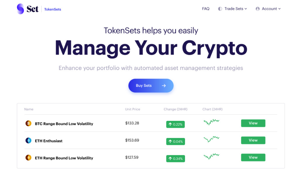 Set - Crypto Asset Management Made Simple