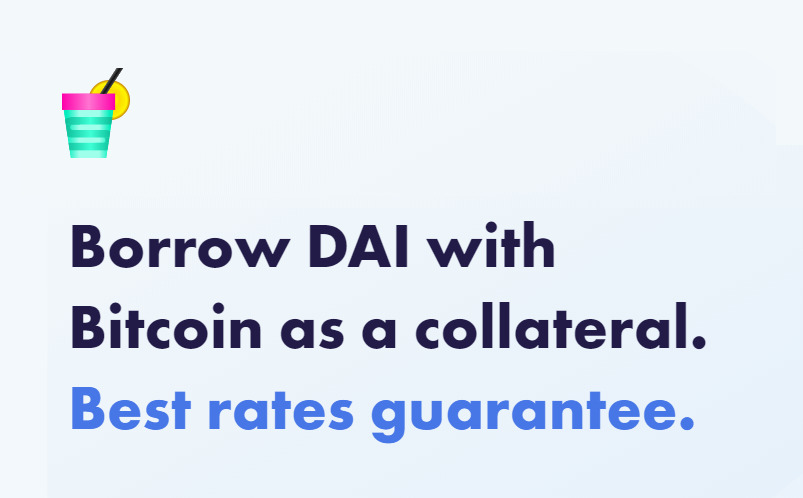 SODA - Borrow DAI with Bitcoin as a collateral. Best rate