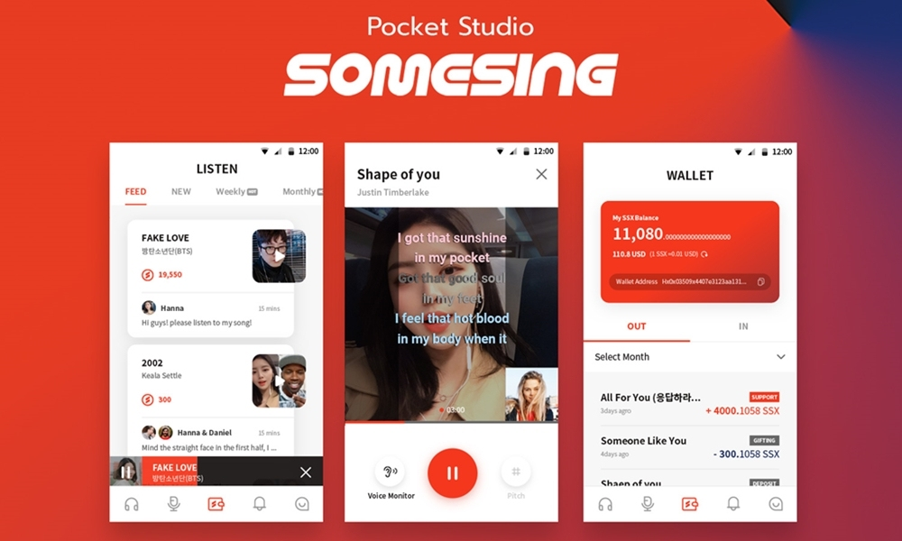 Somesing - Pocket Studio, Sing Free, Get Reward!