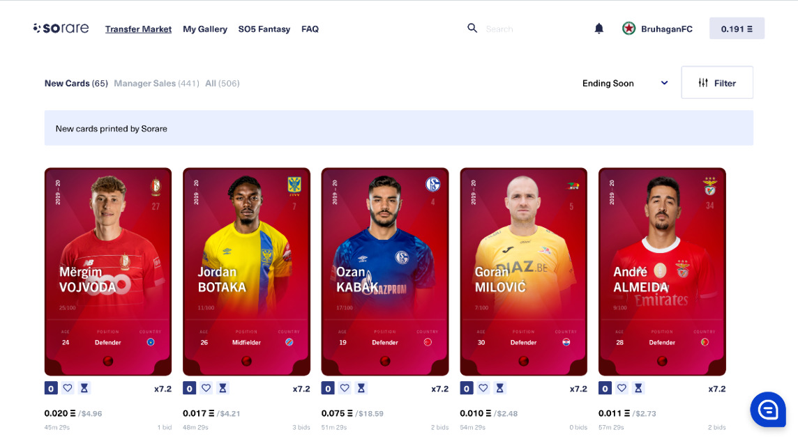 Sorare - Scout, collect and play with football player cards