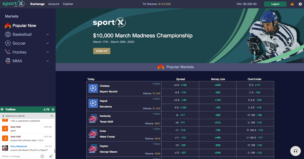 SportX - The Best Sports Betting Dapp in Crypto