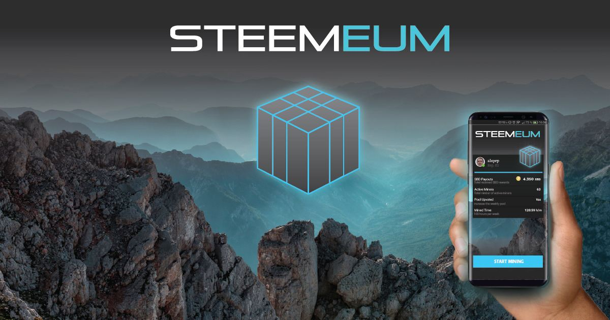 Steemeum - Virtual mobile miner app and community