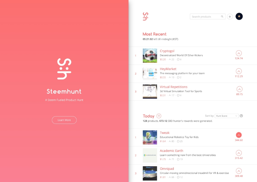 Steemhunt - Daily ranking for cool new products