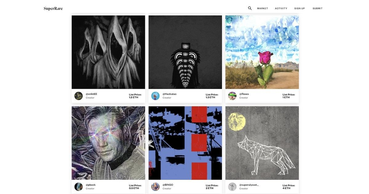 SuperRare - The internet's art marketplace