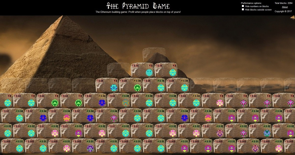 The Pyramid Game - Place blocks to build a pyramid together