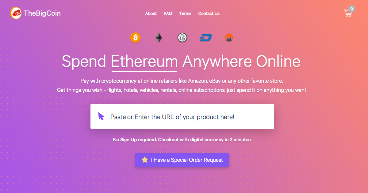 TheBigCoin - Online Shopping Platform