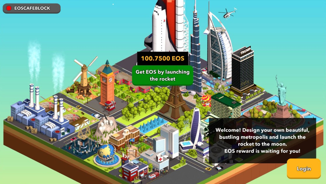 To the Moon EOS - City-building tycoon game