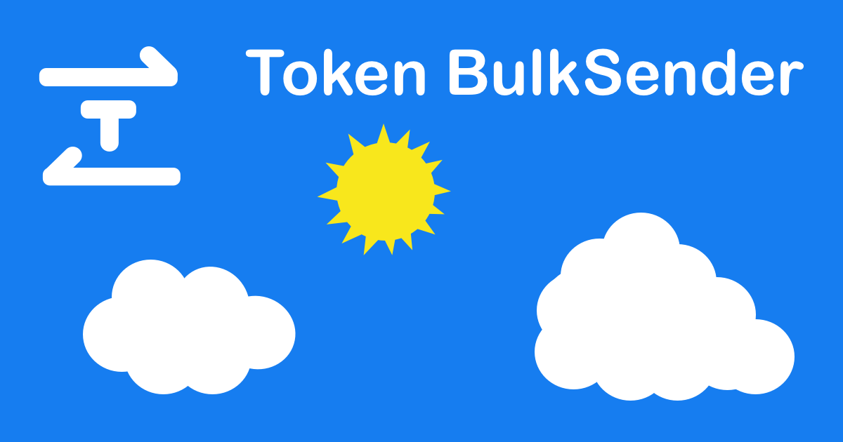 Token BulkSender - Send ether or token to multiple addresses in bulk