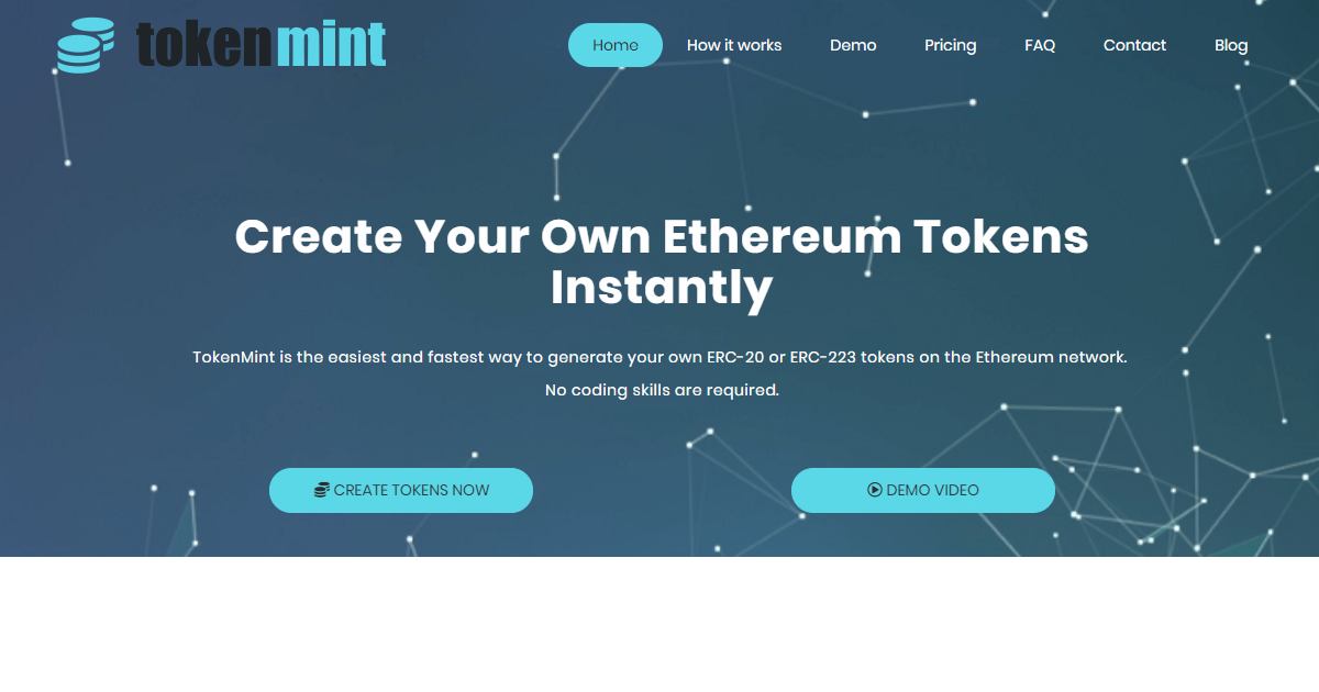 Token Mint - Create your own Erc20 or Erc223 tokens instantly