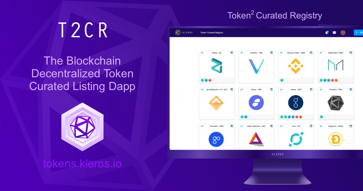 Token² Curated Registry - Curated list of tokens and their badges