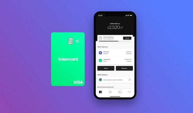 TokenCard - Contract wallet paired with a debit card