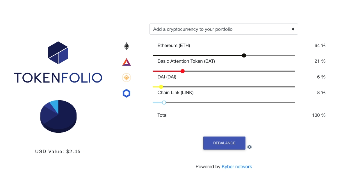 Tokenfolio - Create a portfolio of  tokens from your wallet!