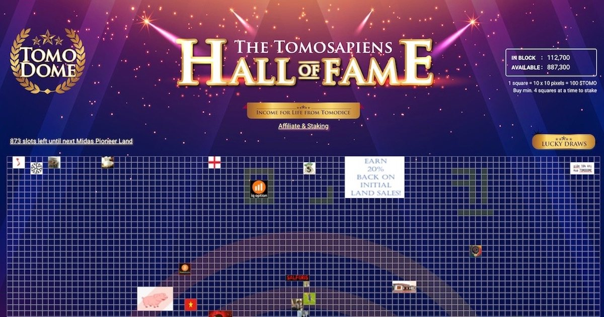 TomoDome - The TomoChain Hall of Fame