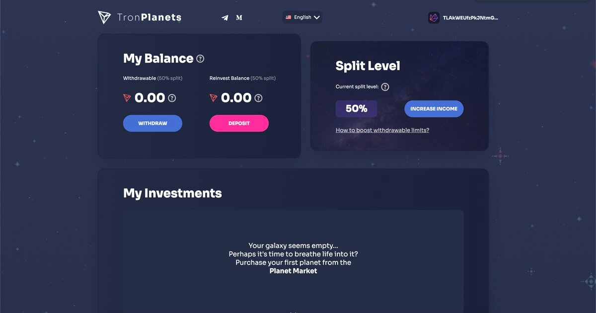 Tron Planets - Build your galaxy and financial independence