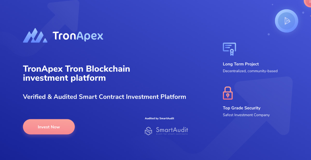 TronApex - First Anti-Whale investment platform on Tron Block