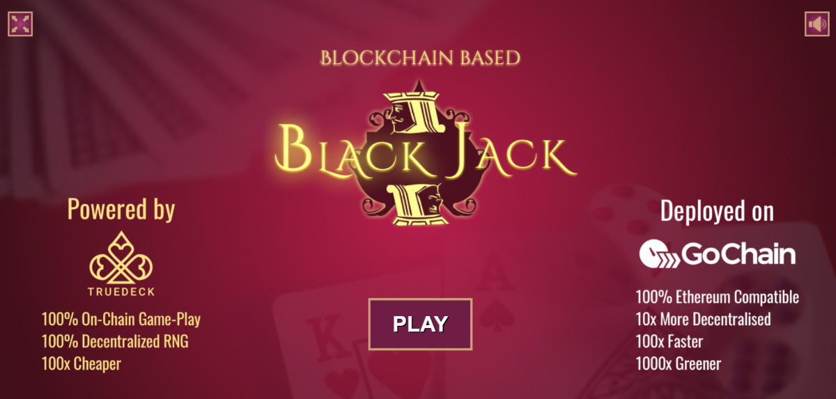 TrueDeck BlackJack - BlackJack on GoChain by TrueDeck